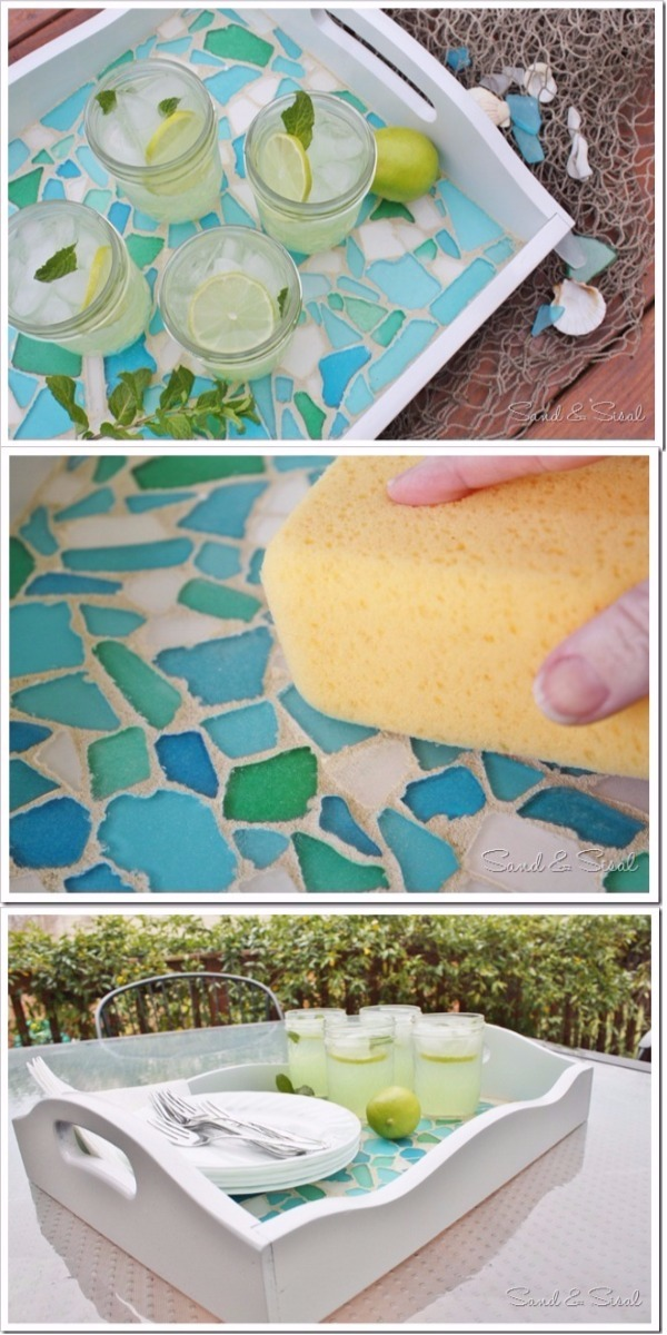 Sea Glass Mosaic Serving Tray 15 Mind Blowing Mosaic Projects For Your Indoor And Outdoor