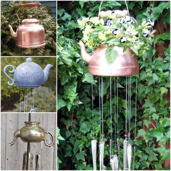 Make some teapot wind chimes