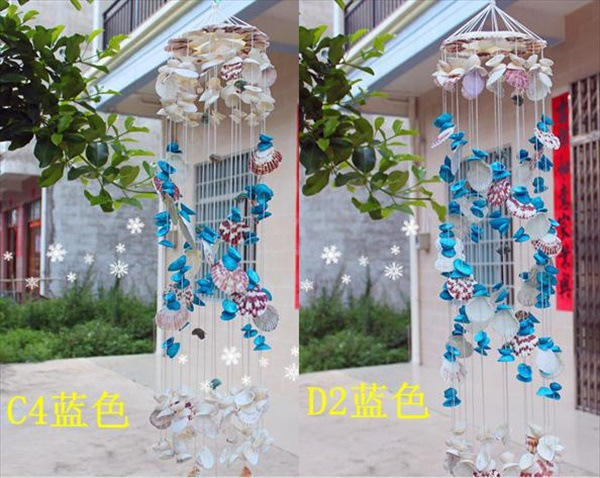 Shell jeweled DIY wind chimes