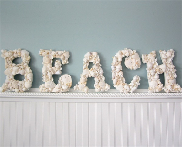 Beach inspired summer decorations