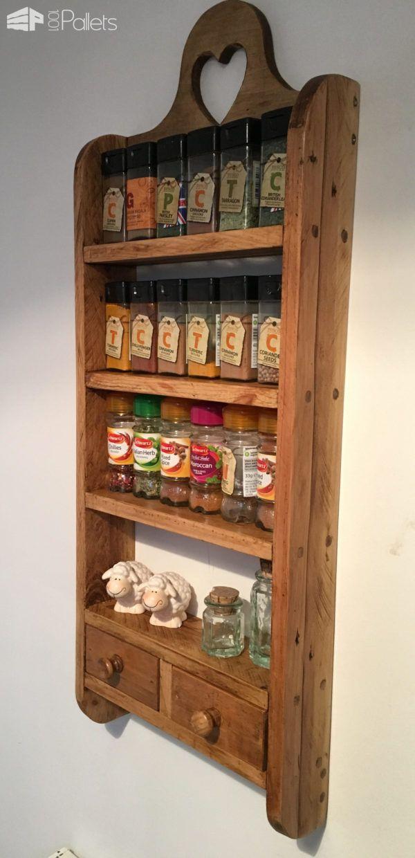 DIY Pallet Ideas To Make Your Kitchen Stunning Drawer Pallet Spice Rack