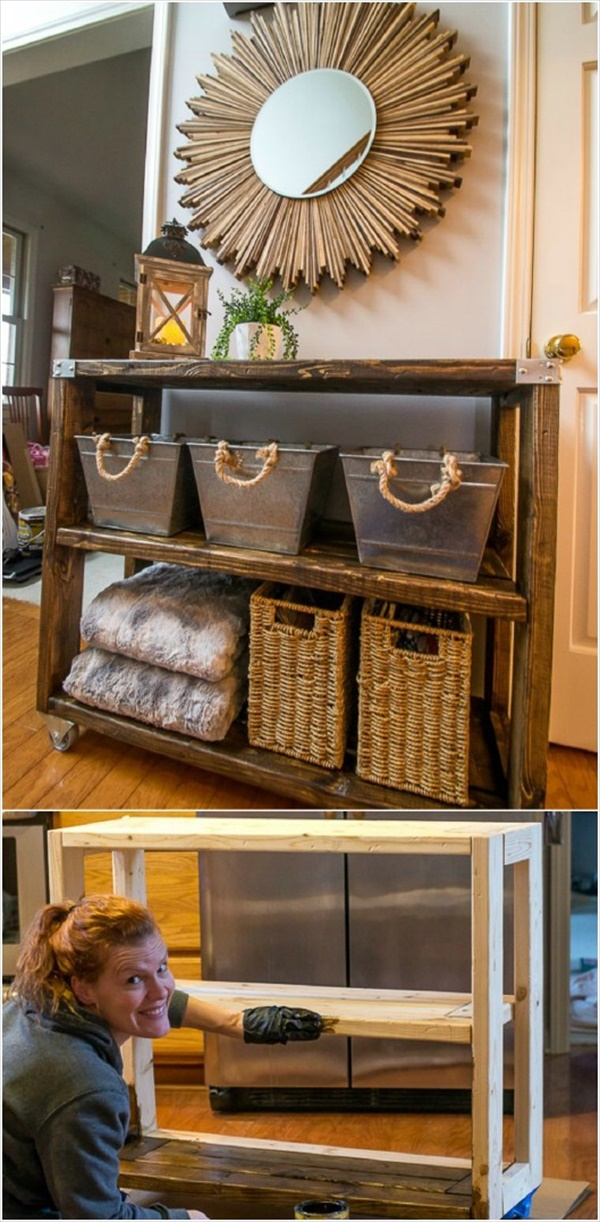DIY Home Decor Ideas That Will Brighten Up Your Space DIY INDUSTRIAL HALLWAY CART