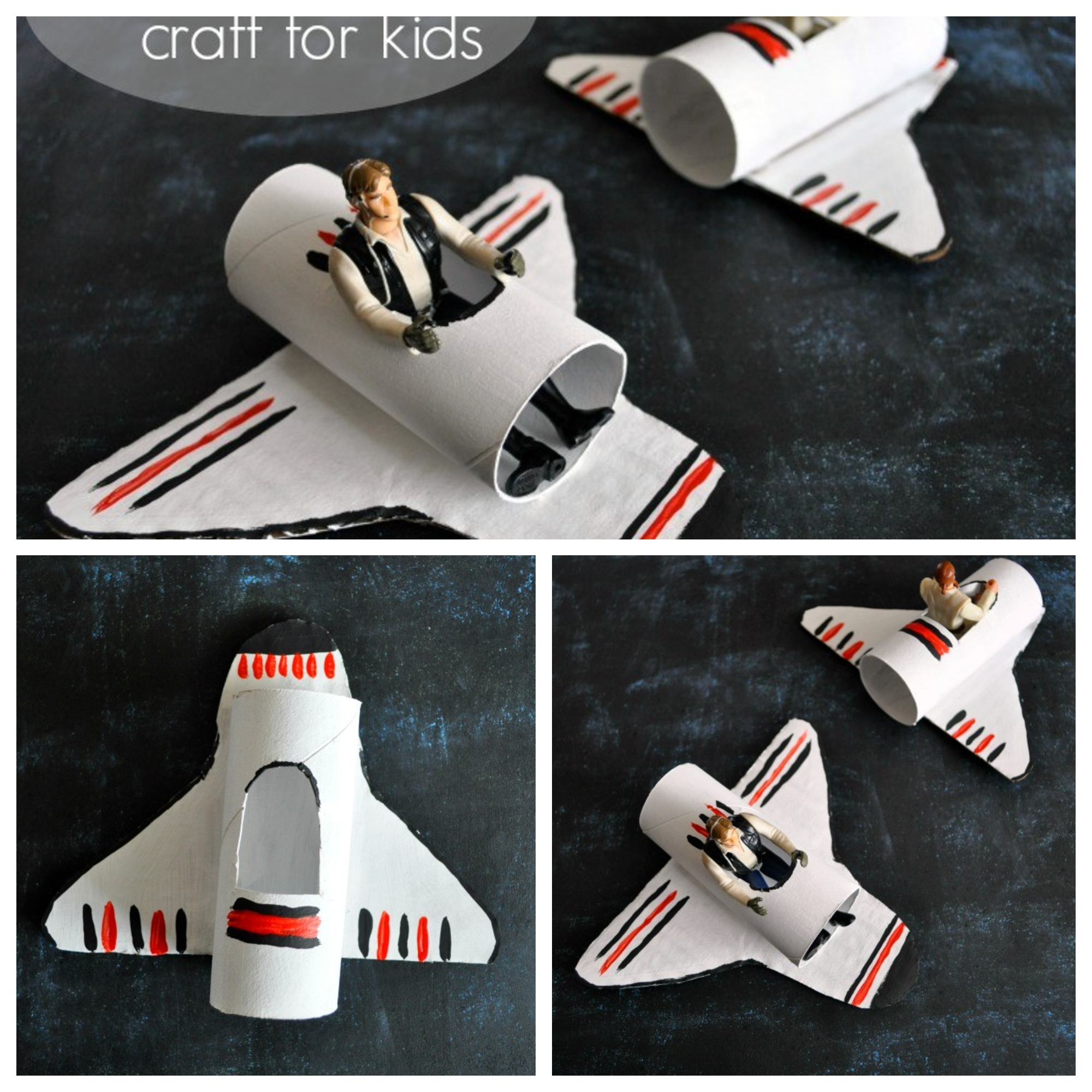 A HAPPY HOMEMADE SPACE SHUTTLE CRAFT Kids Crafts Ideas That You Can Make Easily