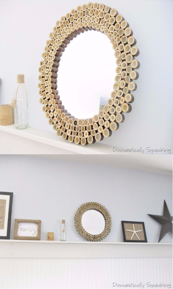 BAMBOO SUNBURST MIRROR 1 DIY Bamboo Crafts That Will Make Your Home Beautiful