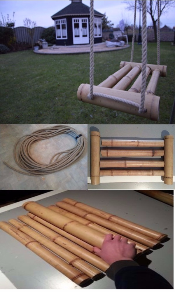 Bamboo Swing DIY Bamboo Crafts That Will Make Your Home Beautiful