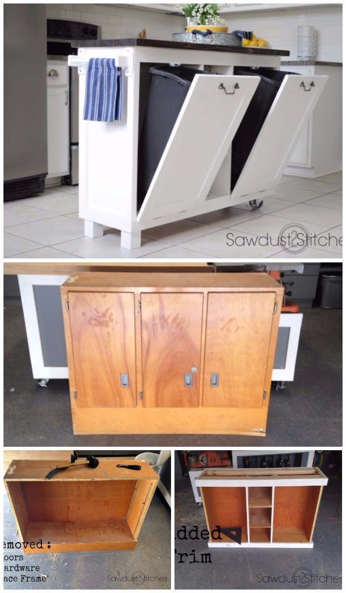 DIY Furniture Makeovers To Brighten Up Your Home Cabinet Transformed Into A Kitchen Island