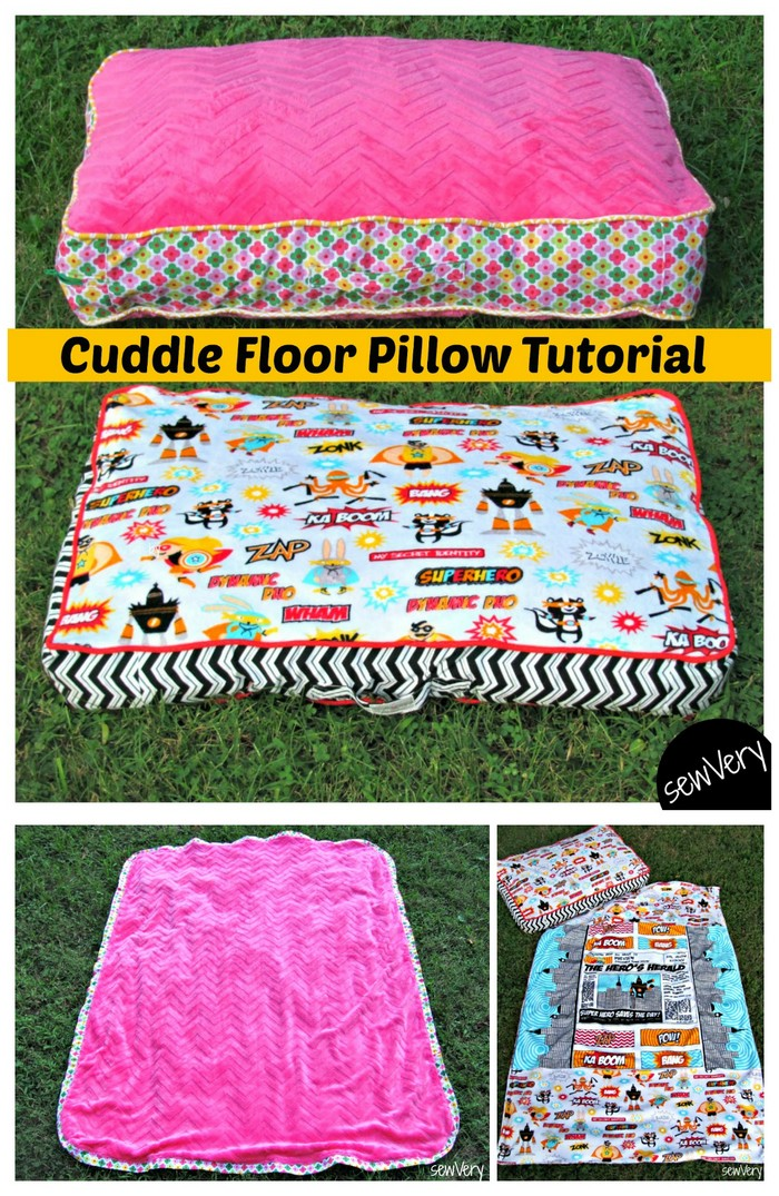 Cuddle Floor Pillow Tutorial and Matching Blankets DIY Pillow Ideas That Will Change Room Look