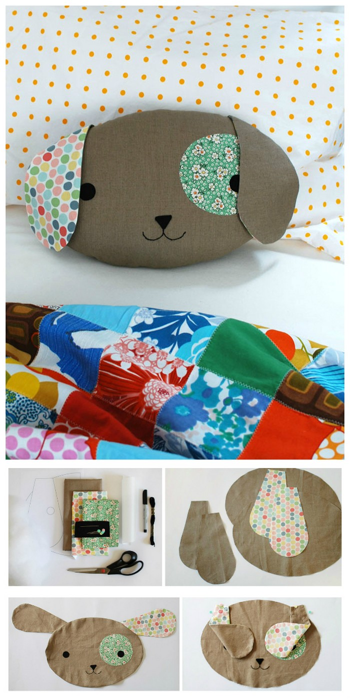 Cute Puppy Pillow Softie DIY Pillow Ideas That Will Change Room Look