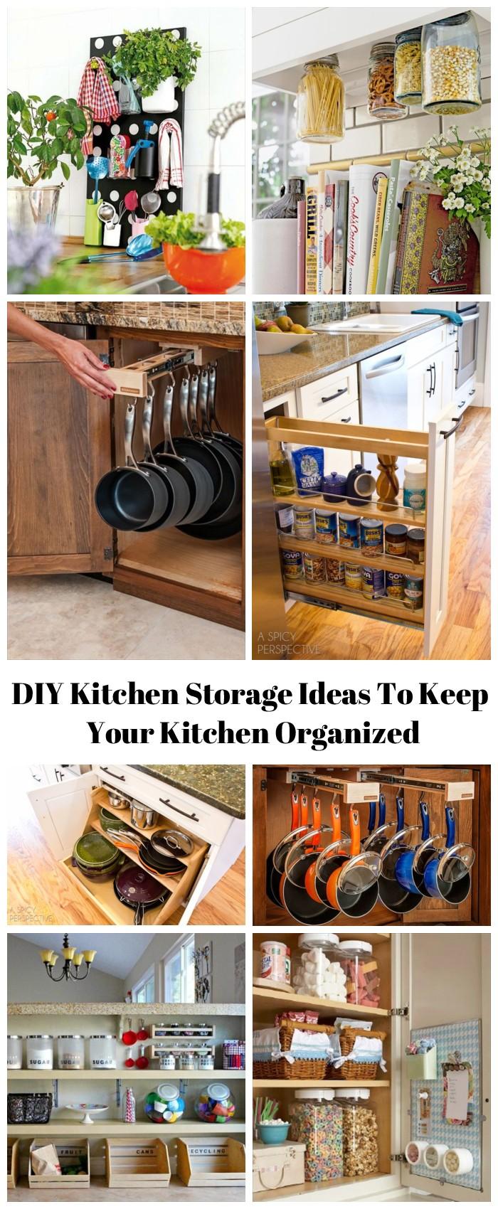 16 clever diy kitchen storage ideas to keep your kitchen organized 16 Storage Ideas