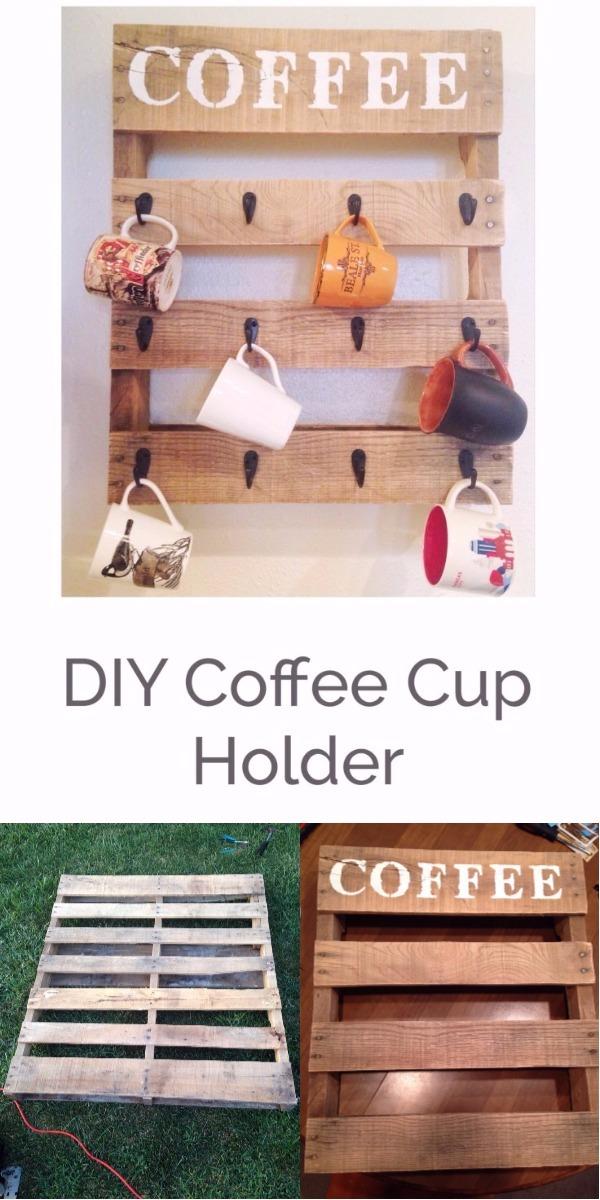 DIY Pallet Ideas To Make Your Kitchen Stunning DIY Coffee Cup Holder