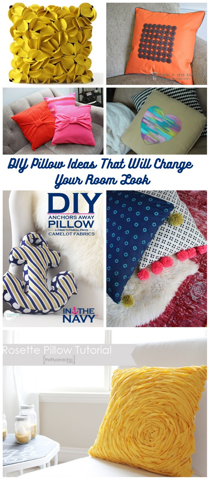 DIY Pillow Ideas That Will Change Your Room Look DIY Pillow Ideas That Will Change Room Look