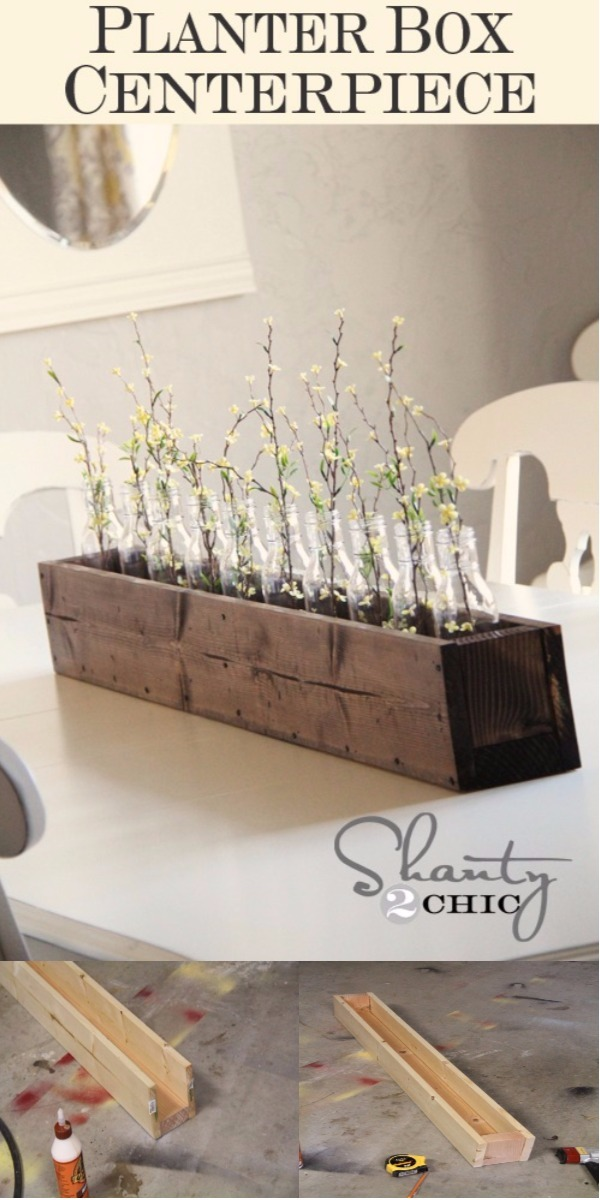 DIY Home Decor Ideas That Will Brighten Up Your Space DIY Planter Box Centerpiece