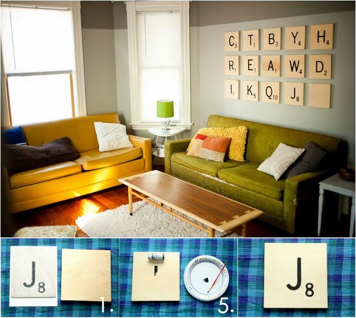 DIY Scrabble Art DIY Rustic Wall Decoration Ideas