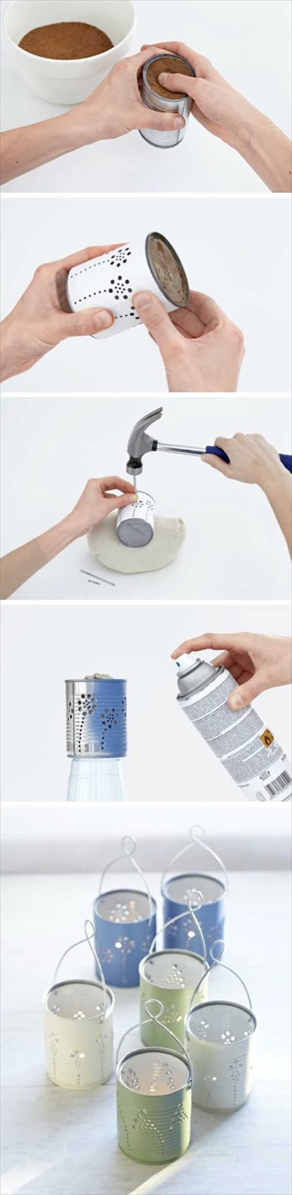 DIY Tin Can Lanterns Craft By Photo Upcycling Projects To Make Your Home Gorgeous