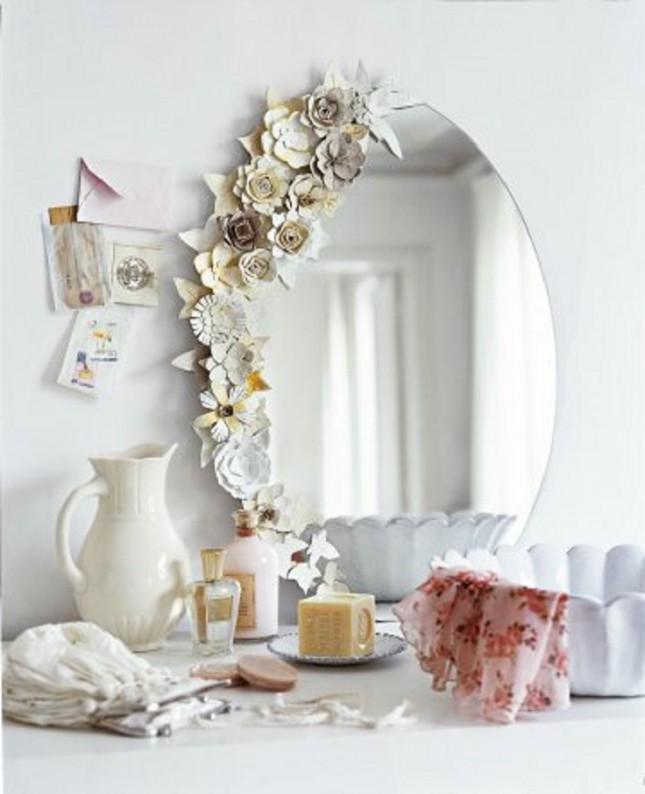 Egg Carton Flower Diy Mirror Frame