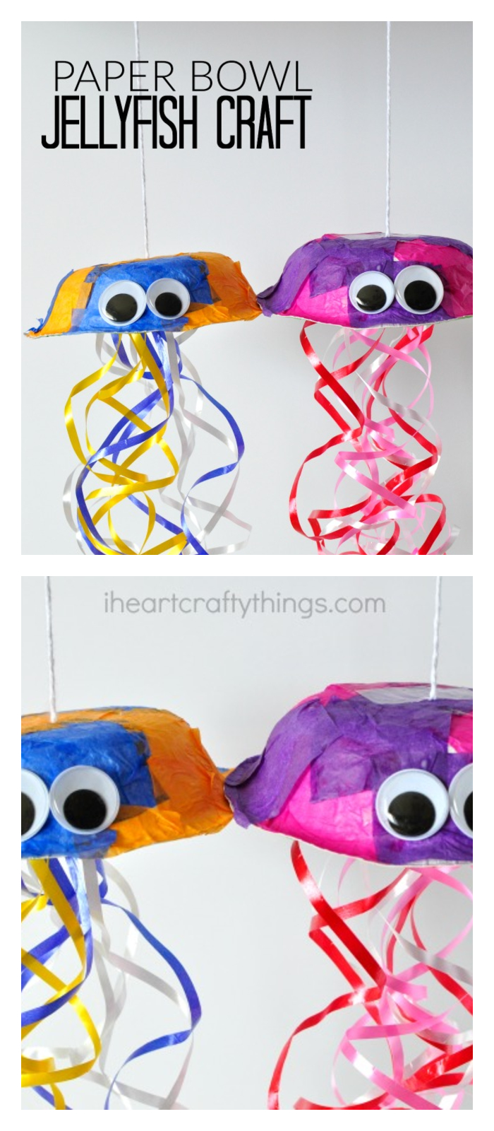 E A COLORFUL JELLYFISH CRAFT Kids Crafts Ideas That You Can Make Easily
