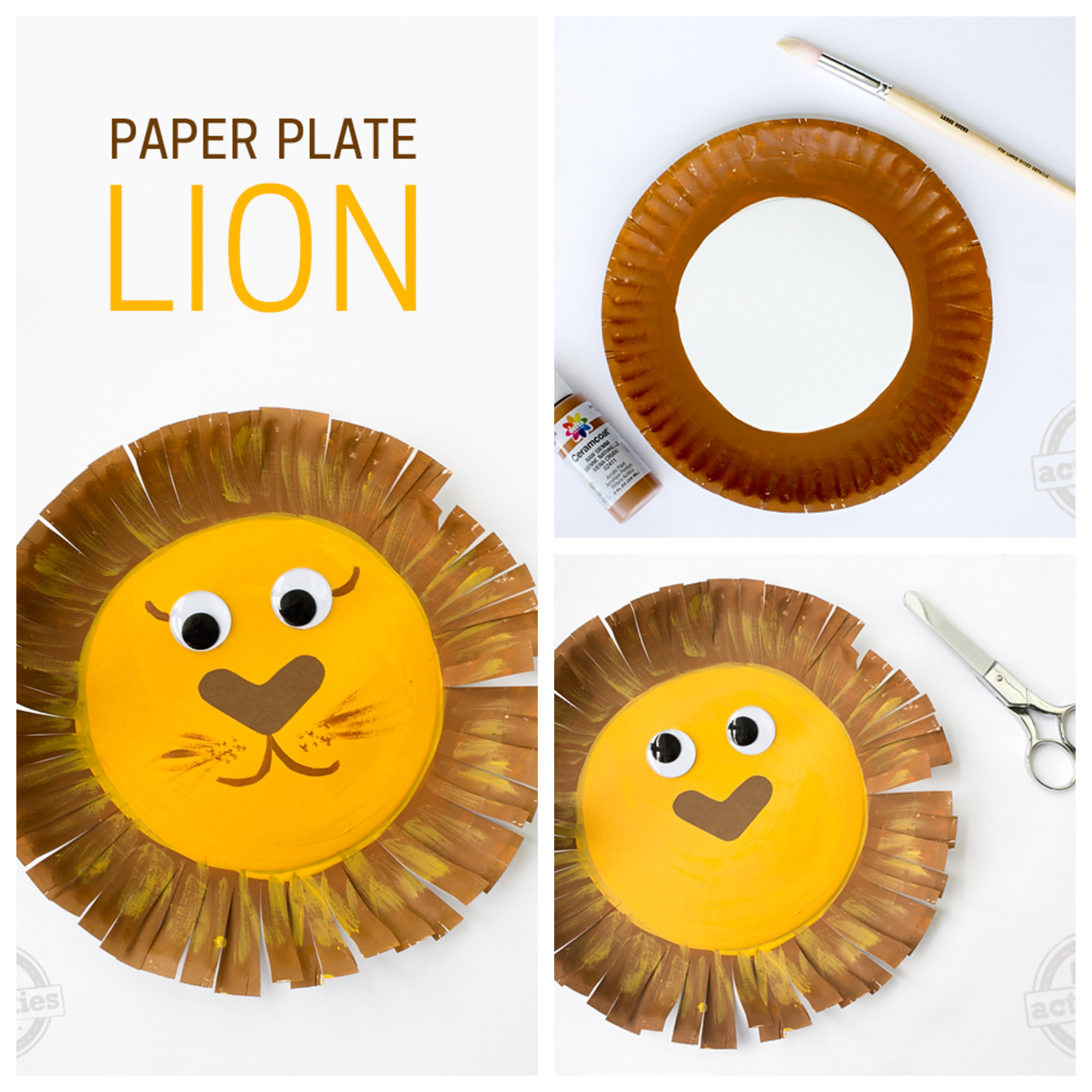 PAPER PLATE LION Kids Crafts Ideas That You Can Make Easily