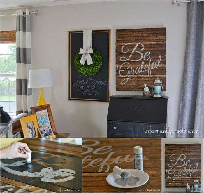 Pallet Word Art Sign DIY Rustic Wall Decoration Ideas