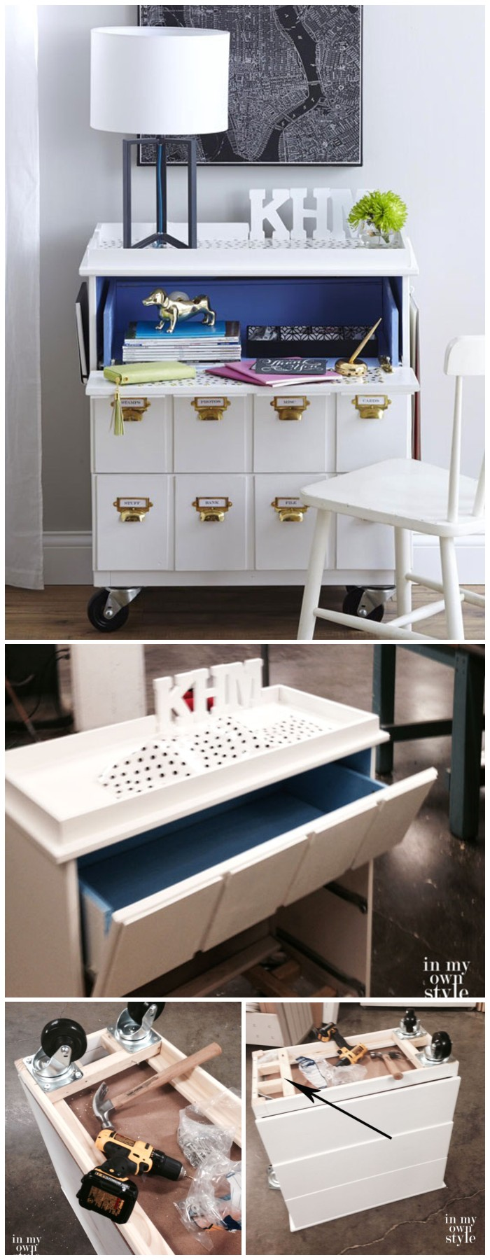 DIY Furniture Makeovers To Brighten Up Your Home DIY IKEA Dresser Makeover & BHG Link Party