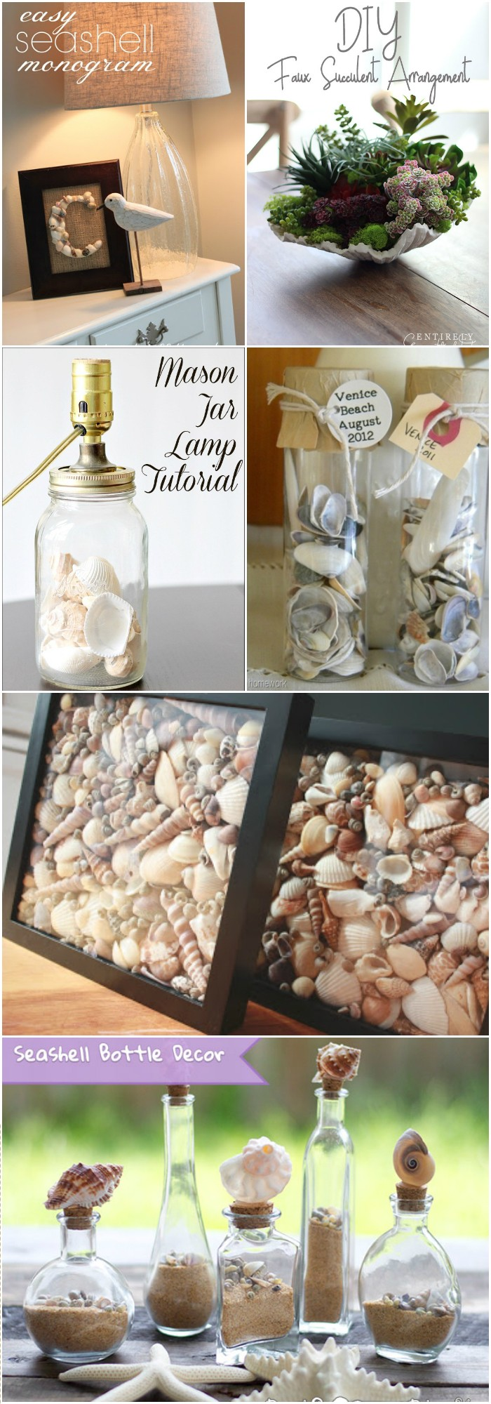 Stunning and creative DIY Seashell Crafts Stunning and Creative DIY Seashell Crafts
