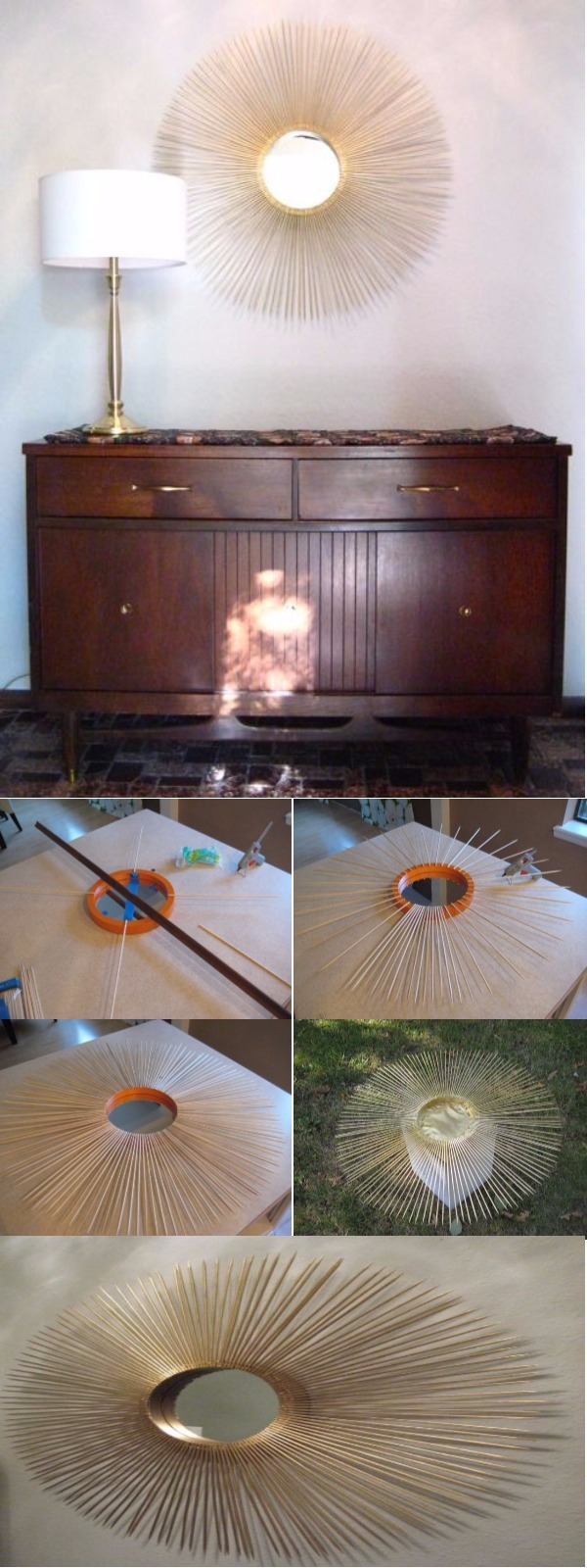 Sunburst Mirror Upcycling Projects To Make Your Home Gorgeous