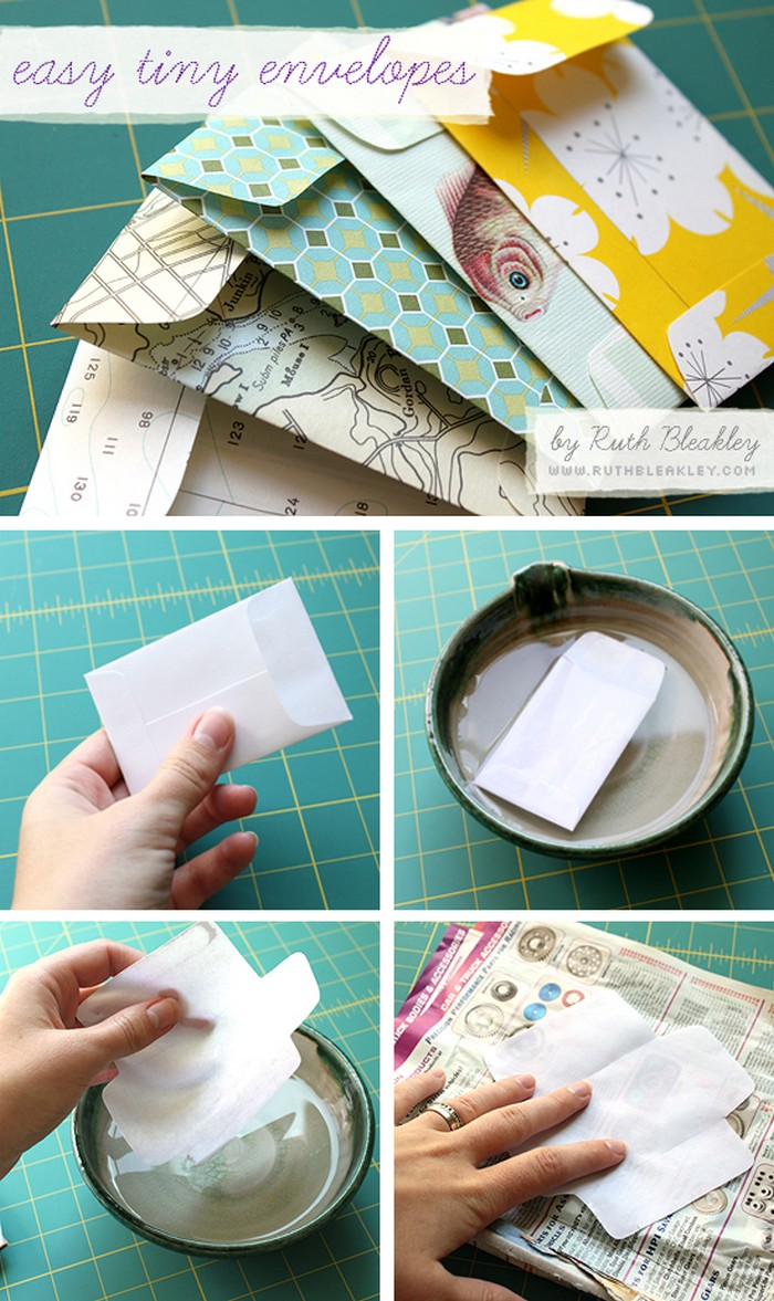 easy tiny envelopes tutorial 1 3 Wrapping Paper Crafts For Home Decor