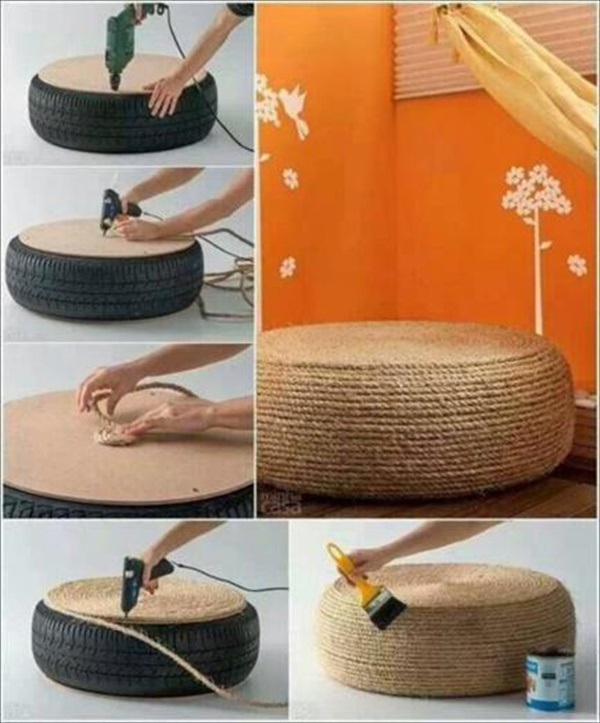 old car tire crafts Upcycling Projects To Make Your Home Gorgeous