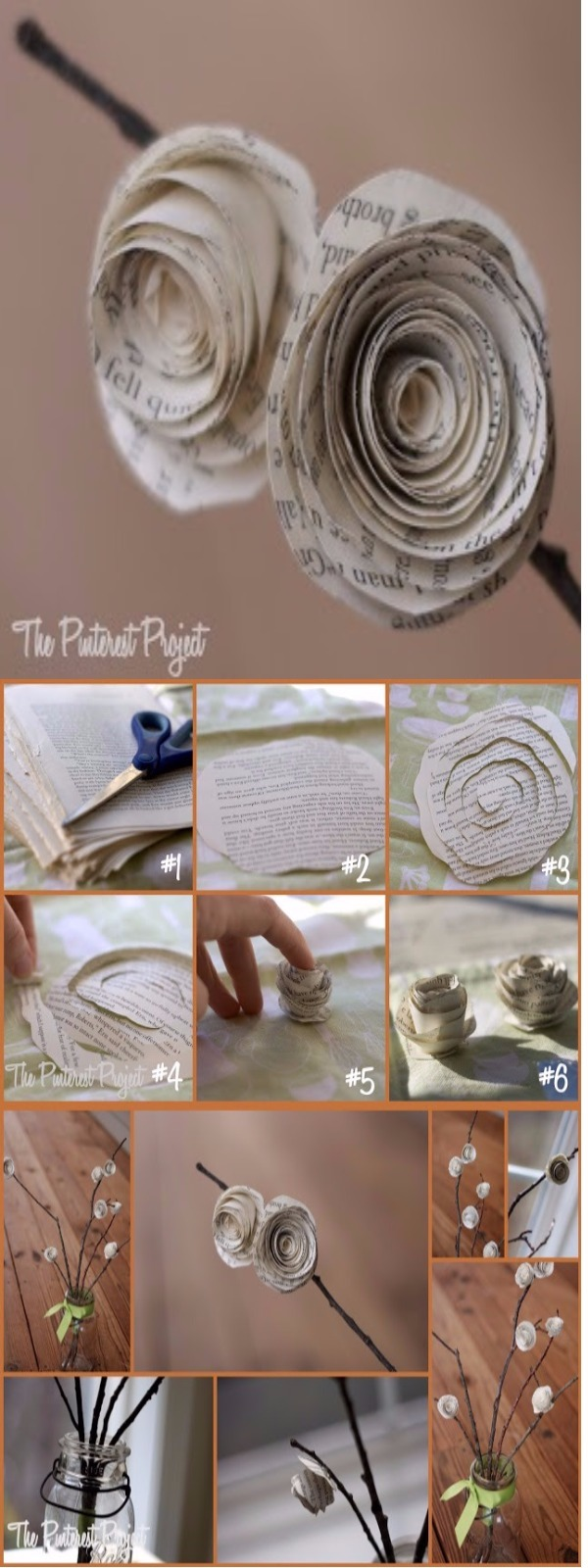 paper flower Upcycling Projects To Make Your Home Gorgeous