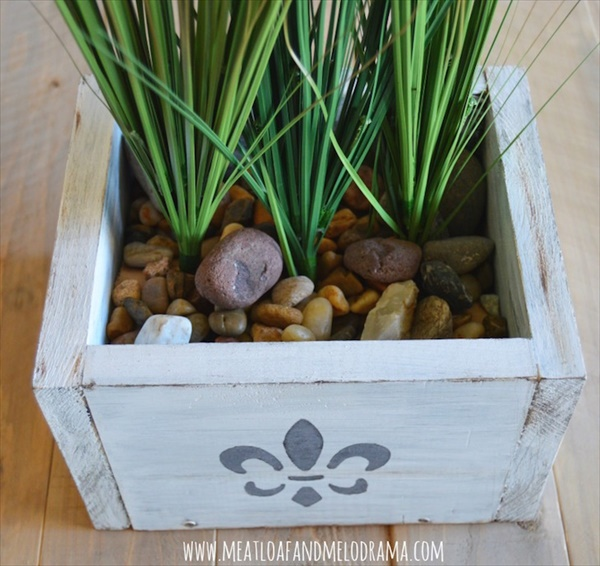 DIY planter box made from different rocks