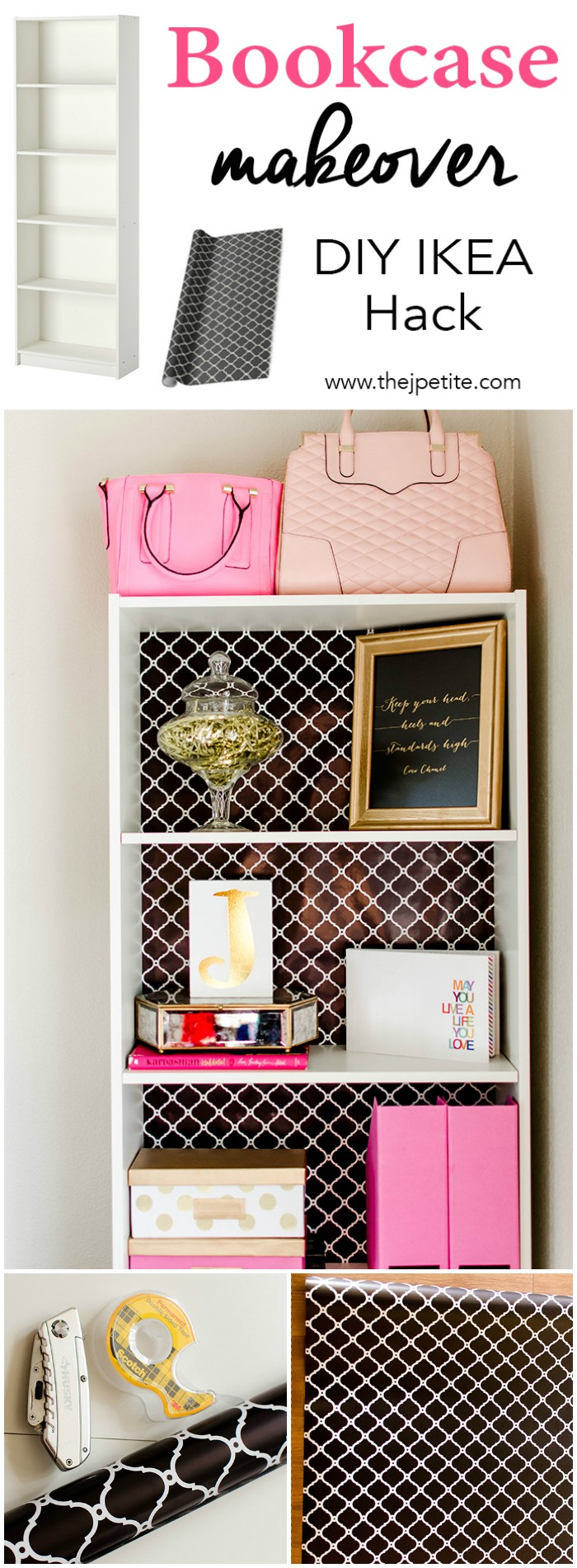 Bookcase Makeover DIY IKEA Hack IKEA Hacks For Your Home Decor
