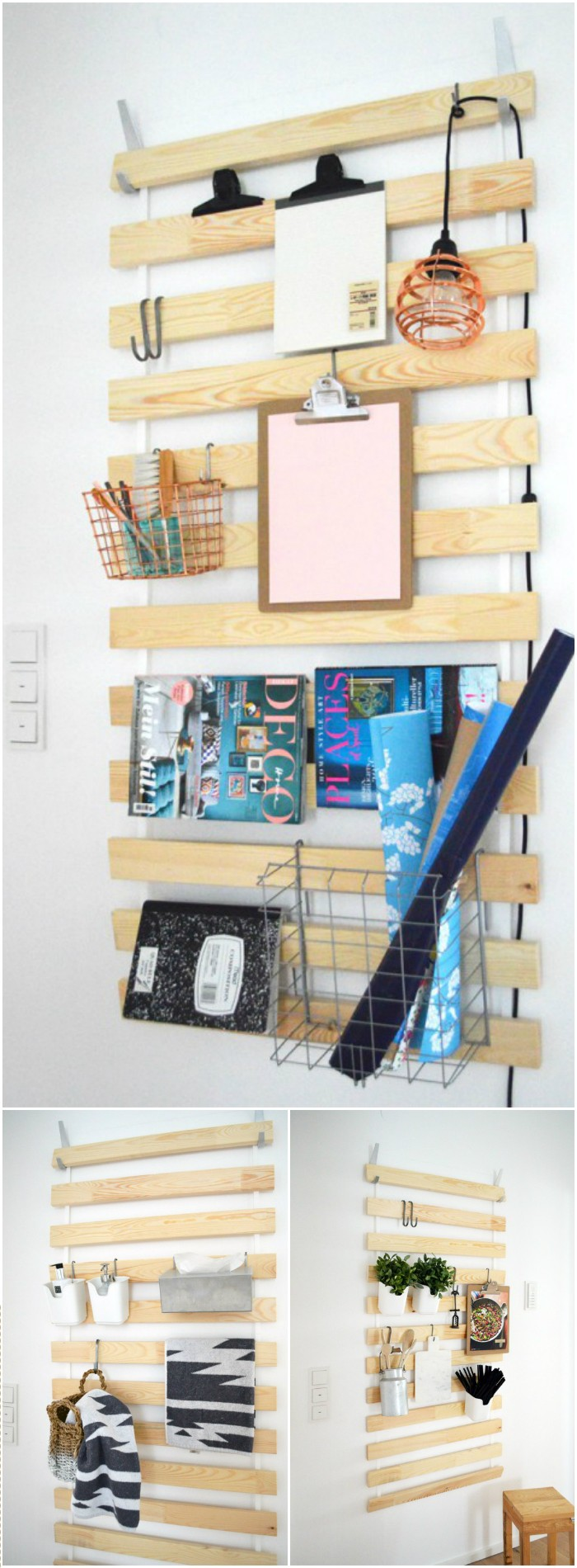 DIY Hanging Pallet Board IKEA Hacks For Your Home Decor