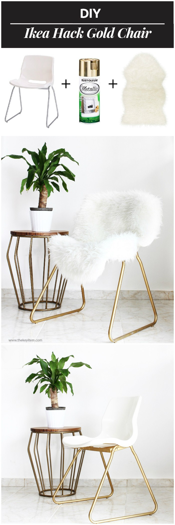 DIY IKEA Hack Gold Chair IKEA Hacks For Your Home Decor