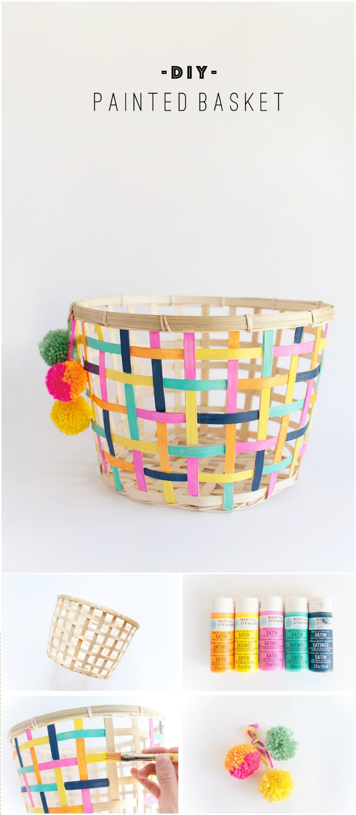 DIY Painted Basket IKEA Hacks For Your Home Decor