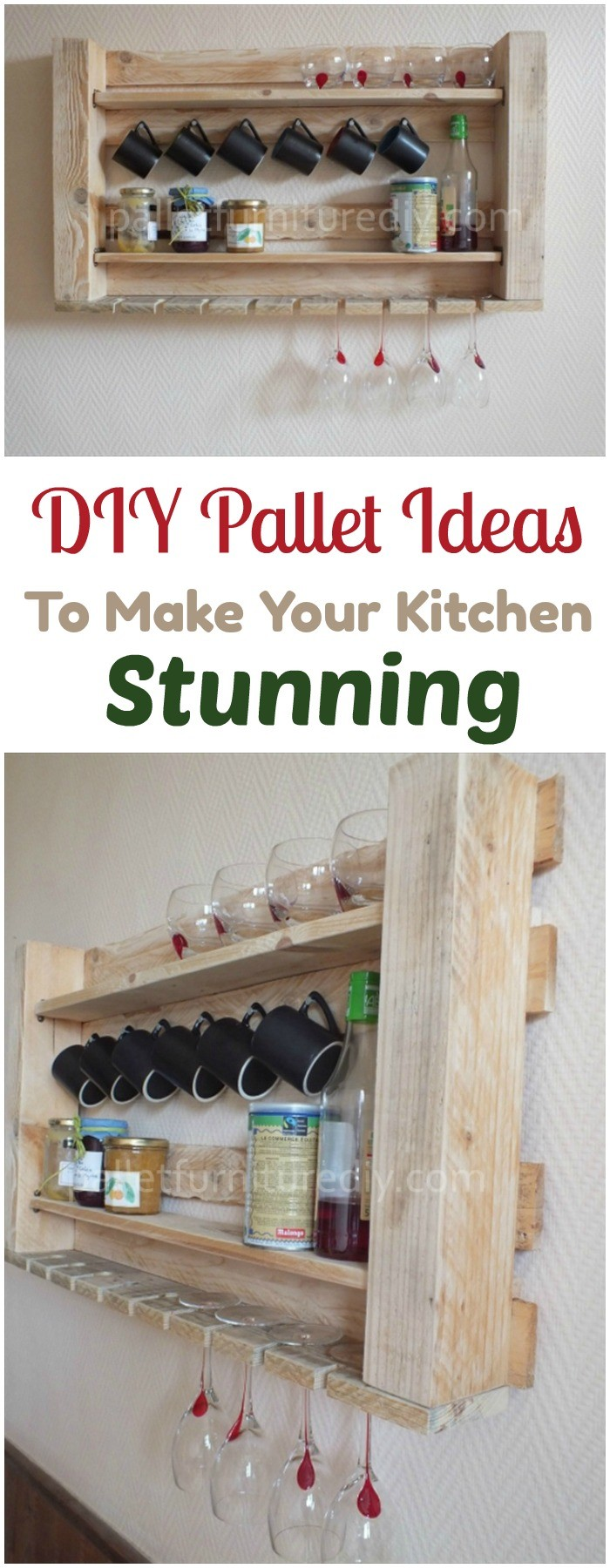 DIY Pallet Ideas To Make Your Kitchen Stunning DIY Pallet Kitchen Shelves for Storage