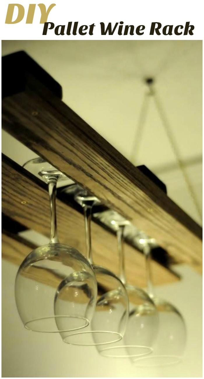 DIY Pallet Ideas To Make Your Kitchen Stunning DIY Pallet Wine Rack
