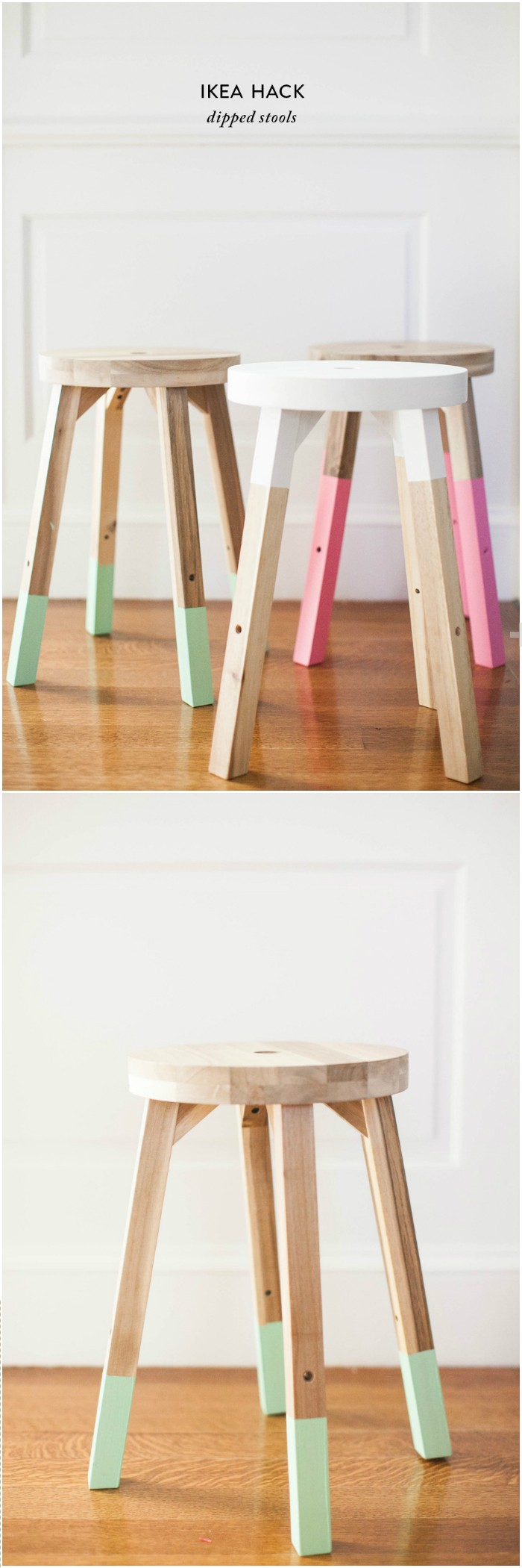 IKEA Hack Dipped Stools IKEA Hacks For Your Home Decor