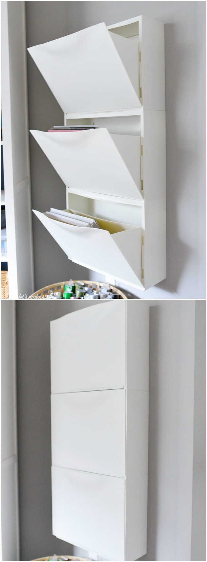 IKEA Hack Shoe Holder For Paper Storage IKEA Hacks For Your Home Decor
