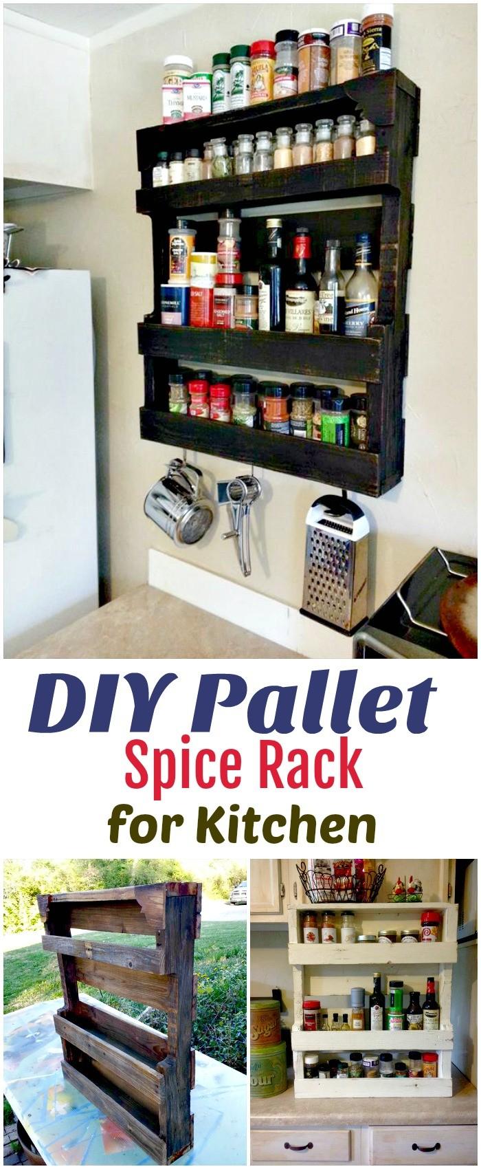 DIY Pallet Ideas To Make Your Kitchen Stunning DIY Pallet Spice Rack for Kitchen