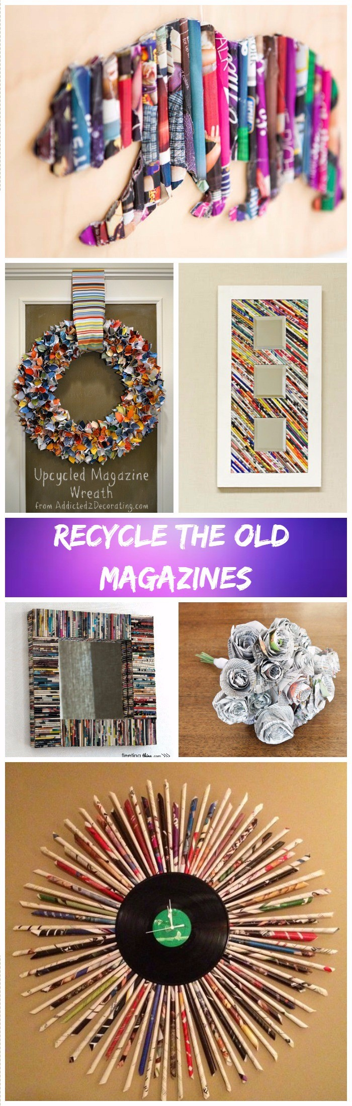 DIY Ideas To Recycle Magazines