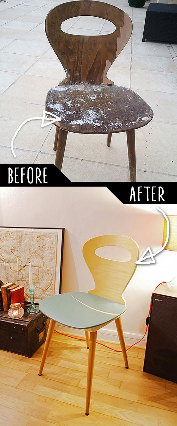 DIY Furniture Makeovers To Brighten Up Your Home Refurbished Broken Chair