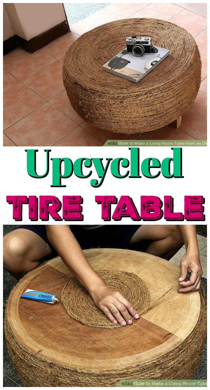 Upcycled Tire Table Upcycling Projects To Make Your Home Gorgeous