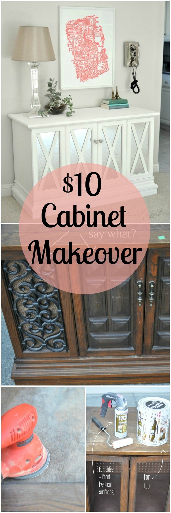 DIY Projects For The Home Decorations $10 Cabinet Makeover