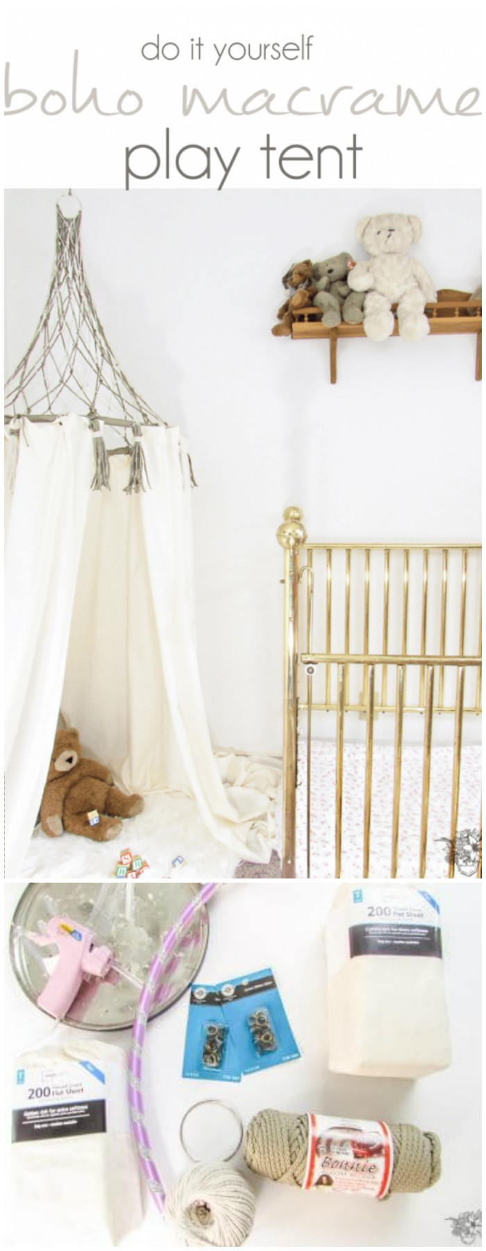 DIY Boho Macrame Play Tent DIY Bed Canopy Ideas Without Spending A Lot