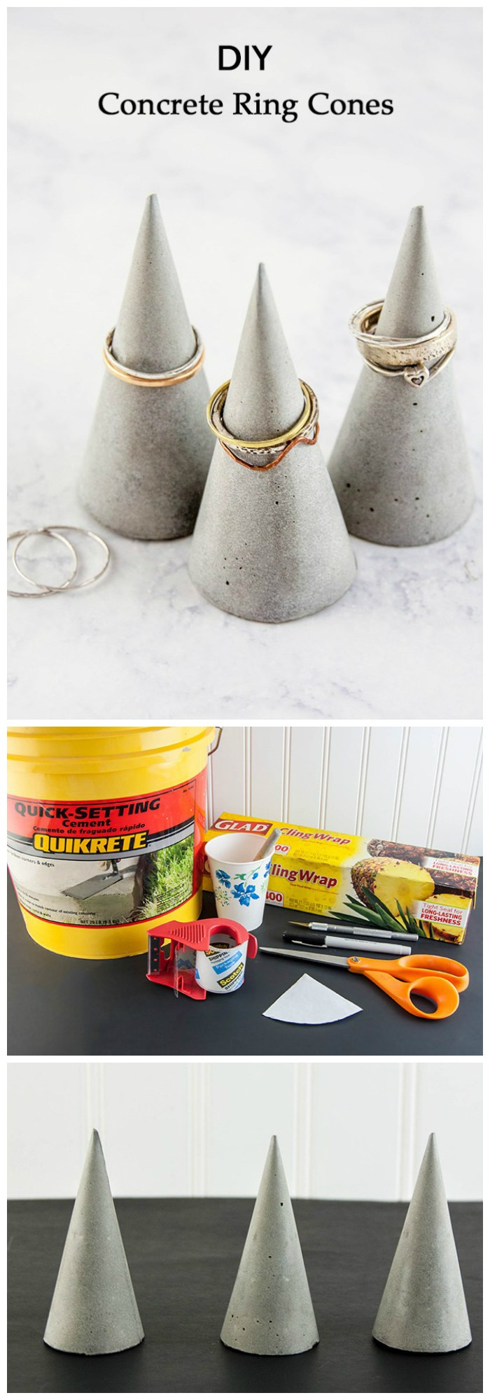 DIY Concrete Ring Cones DIY Concrete Projects To Make Your Home Creative
