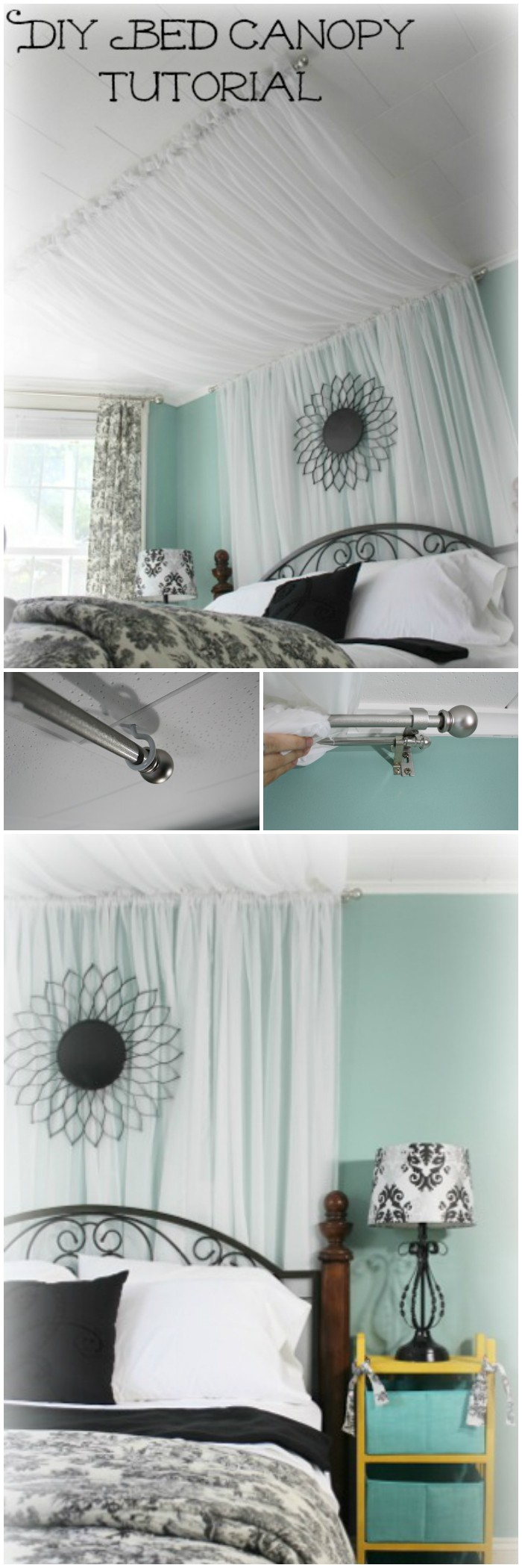 DIY Bed Canopy Ideas Without Spending A Lot DIY bed canopy curtains
