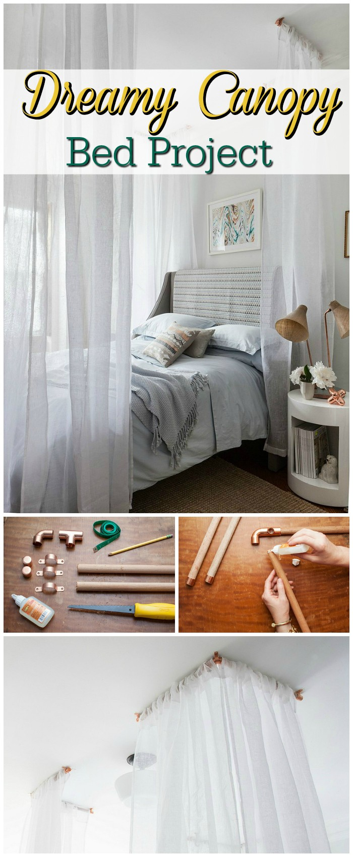 DIY Bed Canopy Ideas Without Spending A Lot Dreamy Canopy Bed Project