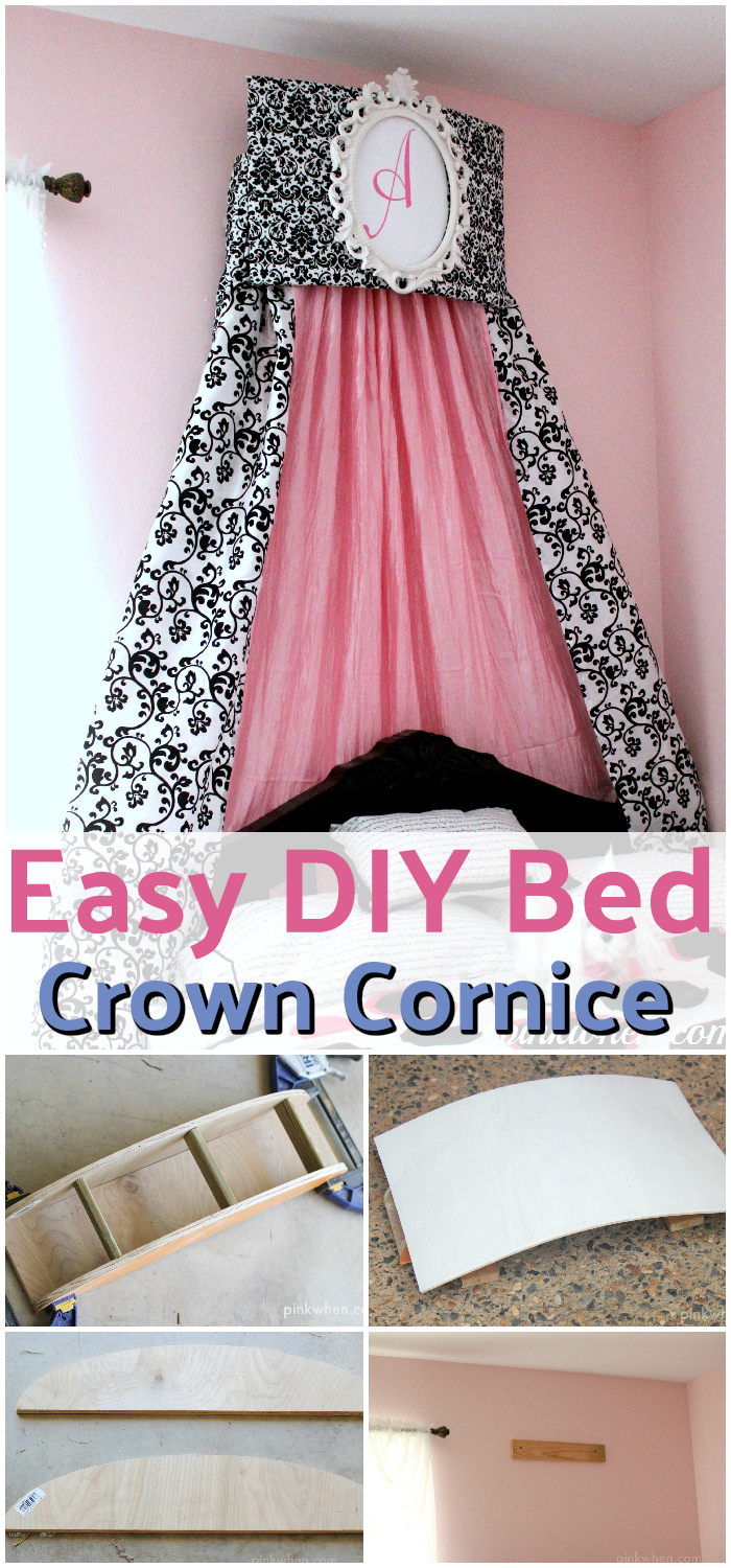 DIY Bed Canopy Ideas Without Spending A Lot Easy DIY Bed Crown Cornice