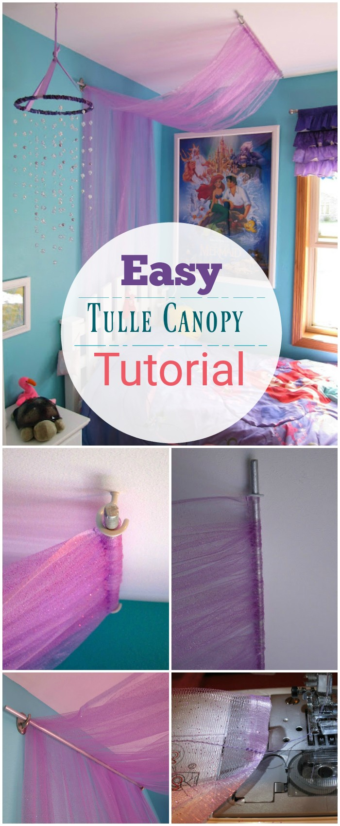 Easy Tulle Canopy Tutorial DIY Bed Canopy Ideas Without Spending A Lot