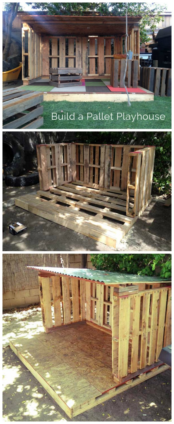 Our Pallet Playhouse DIY Playhouse Ideas For Your Kids