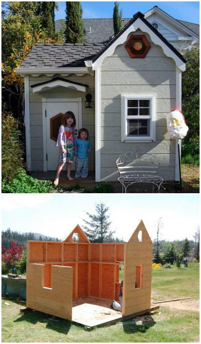 Diy playhouse ideas for your kids diy home decor for Homes built on your land with no money down